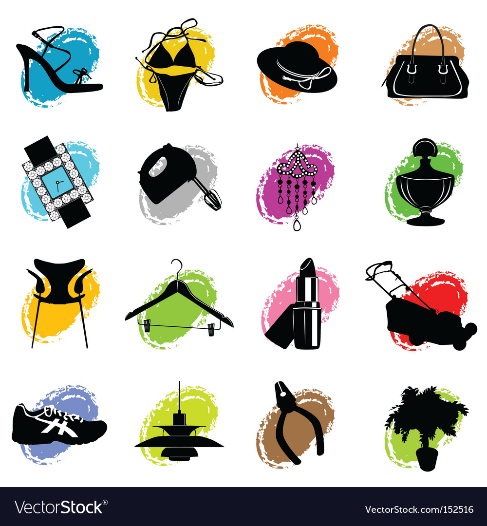 Web site category icons vector | Price: 1 Credit (USD $1)