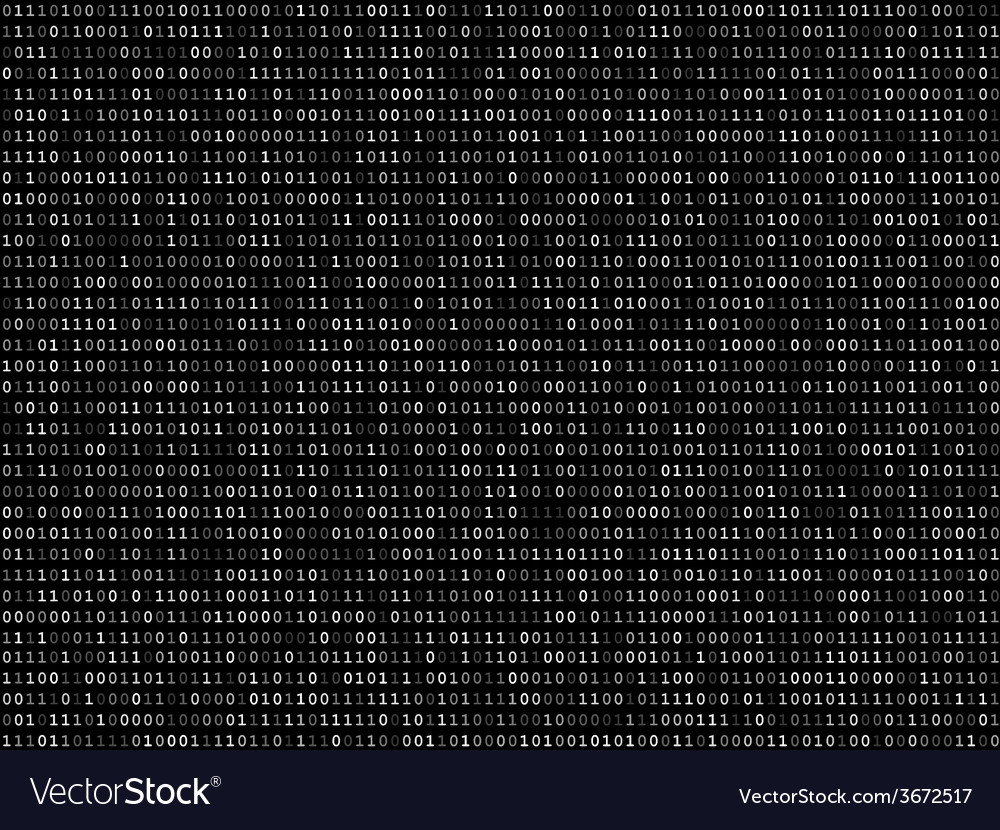 Blink binary code screen black vector | Price: 1 Credit (USD $1)