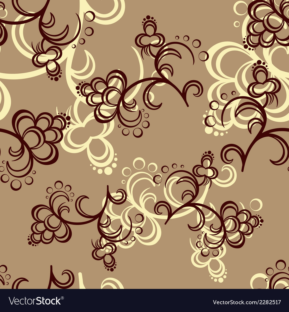 Brown flower pattern vector | Price: 1 Credit (USD $1)