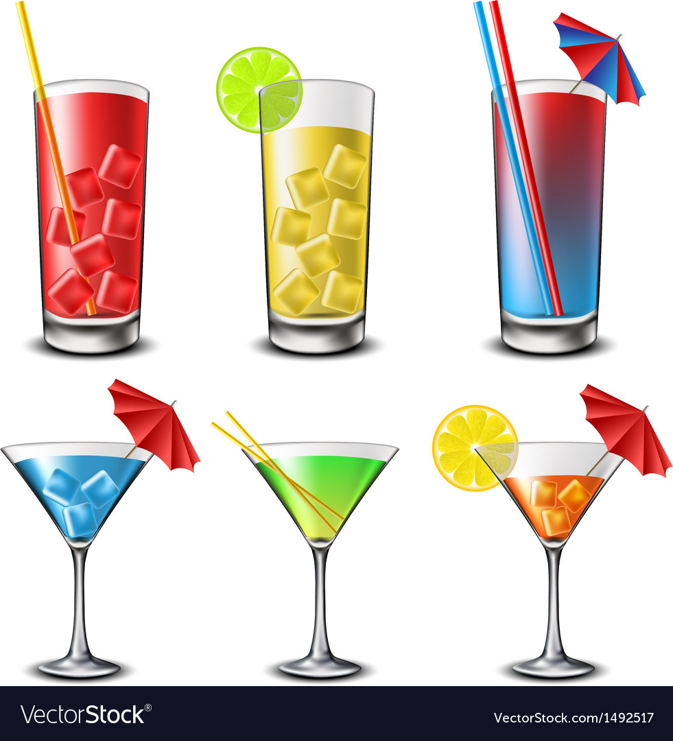 Cocktail set vector | Price: 1 Credit (USD $1)