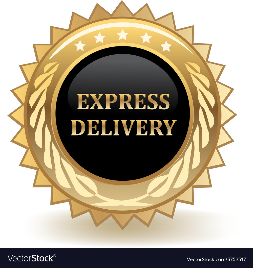 Express delivery badge vector | Price: 1 Credit (USD $1)