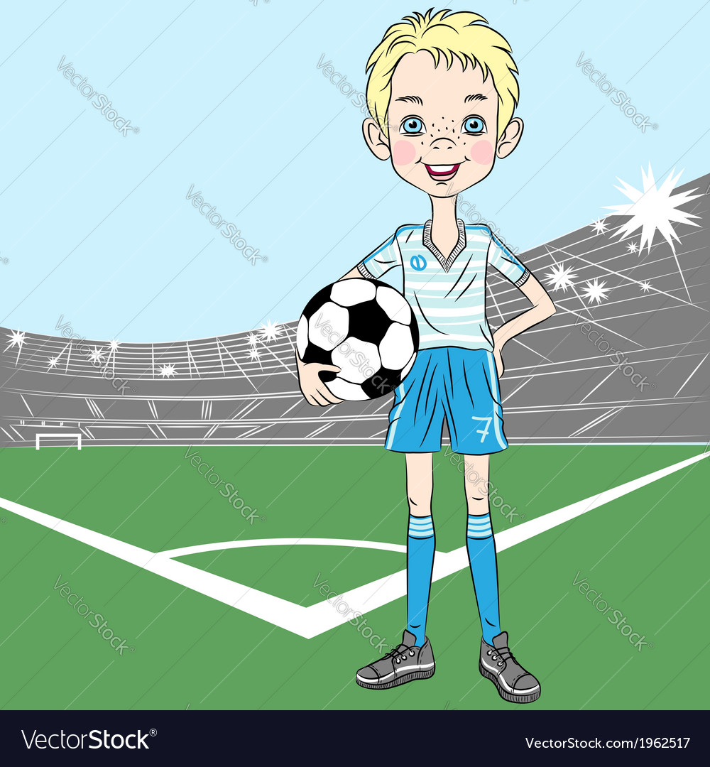 Football soccer player vector | Price: 1 Credit (USD $1)