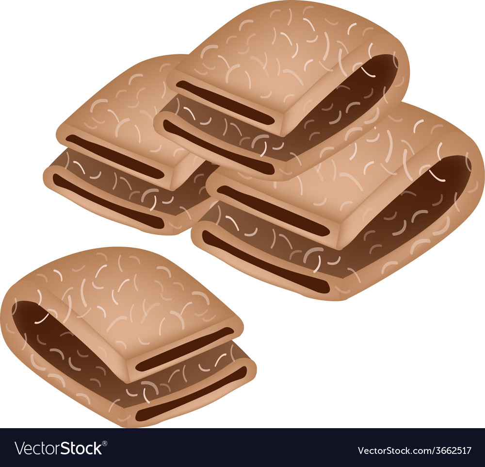 Japanese traditional sweet of delicious baked yats vector | Price: 1 Credit (USD $1)