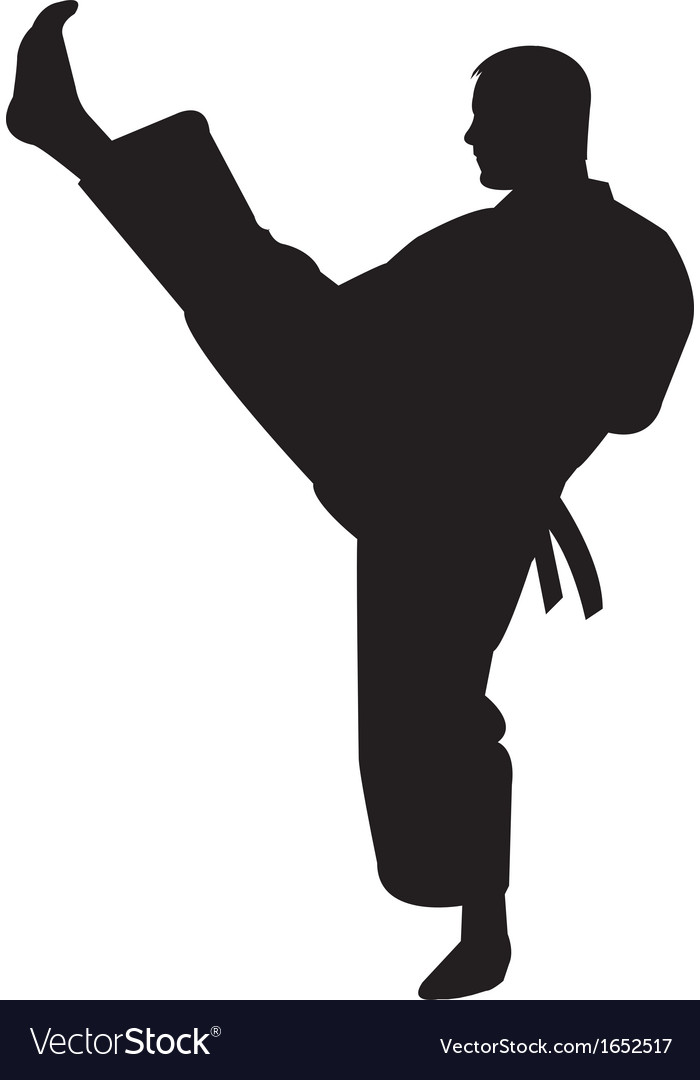 Karate trainer silhouette vector | Price: 1 Credit (USD $1)