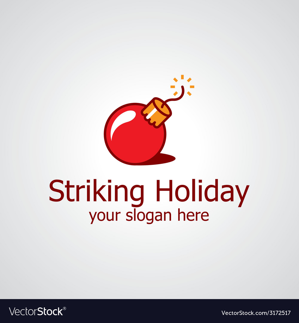 Striking holiday logo vector | Price: 1 Credit (USD $1)