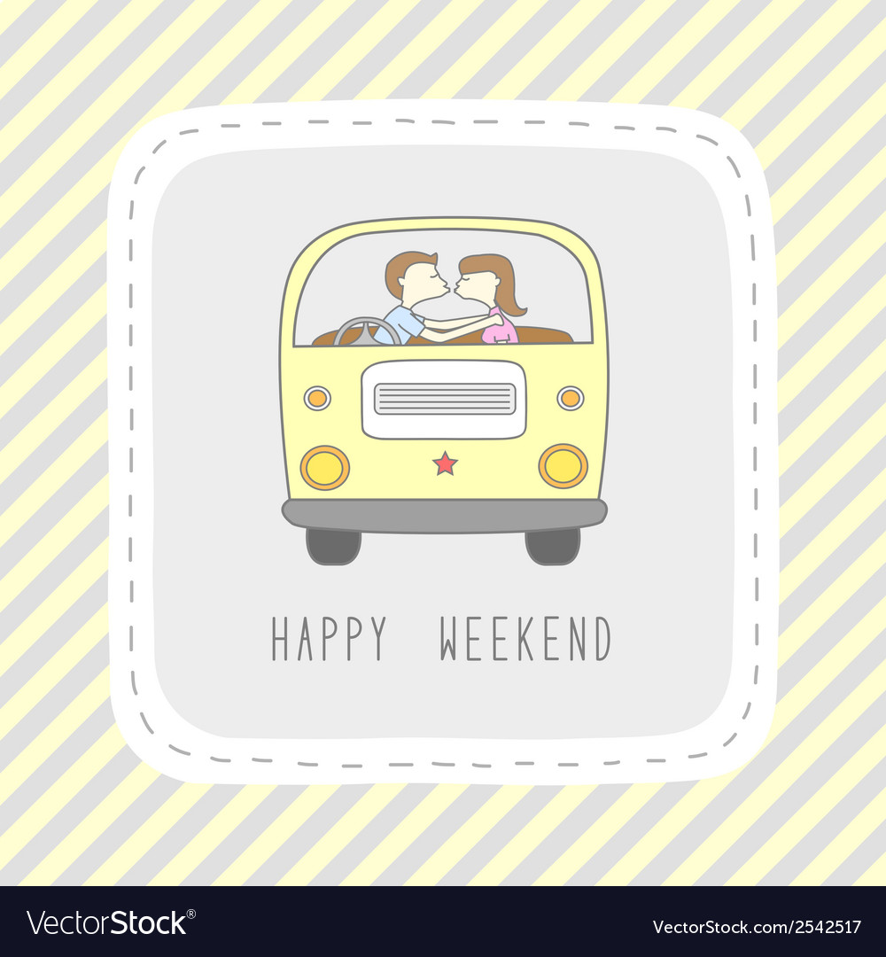 Weekend card2 vector | Price: 1 Credit (USD $1)