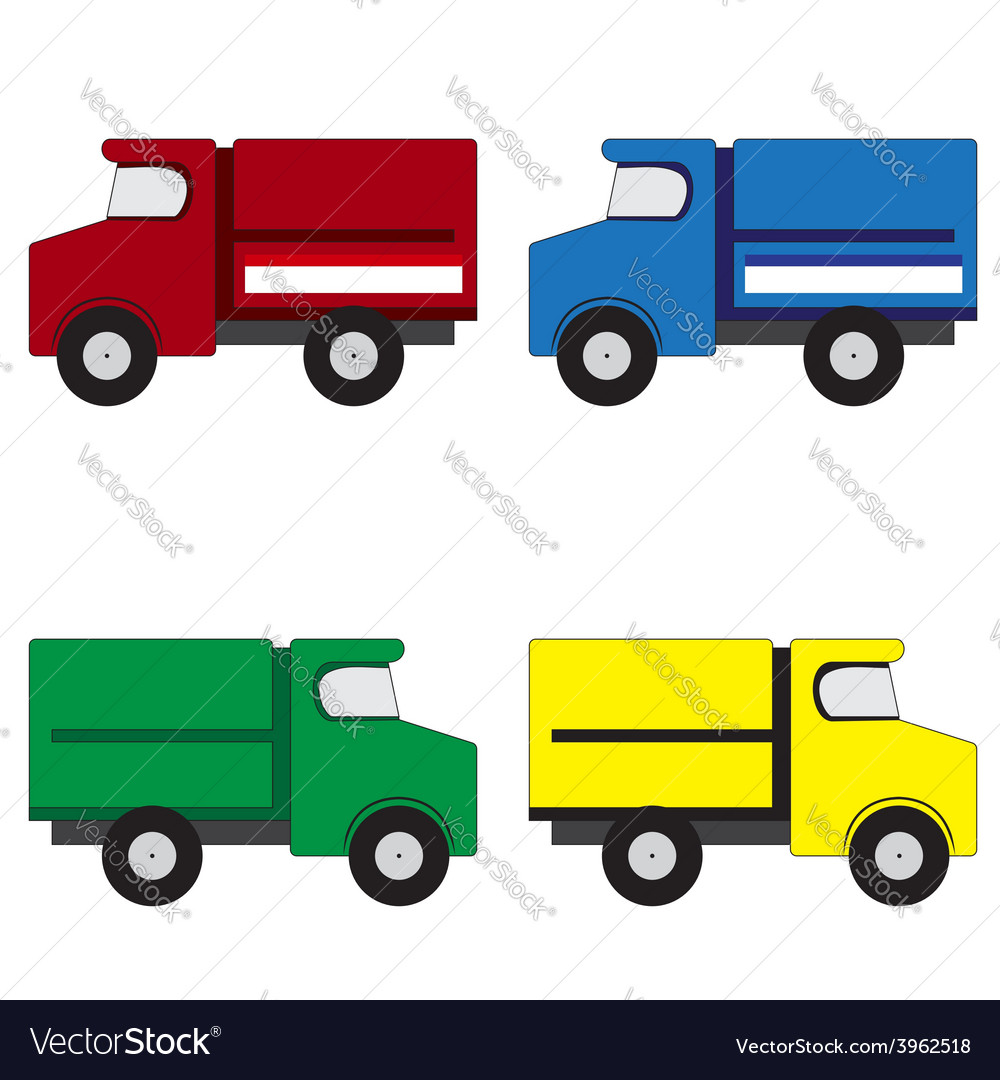 4 trucks vector | Price: 1 Credit (USD $1)