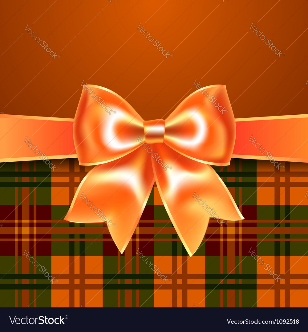 Background with ribbon bow vector | Price: 1 Credit (USD $1)