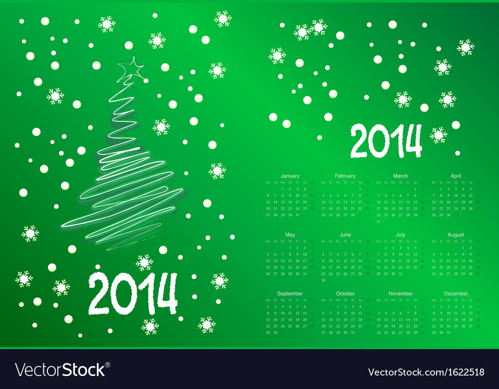 Calendar to a new 2014 year vector | Price: 1 Credit (USD $1)