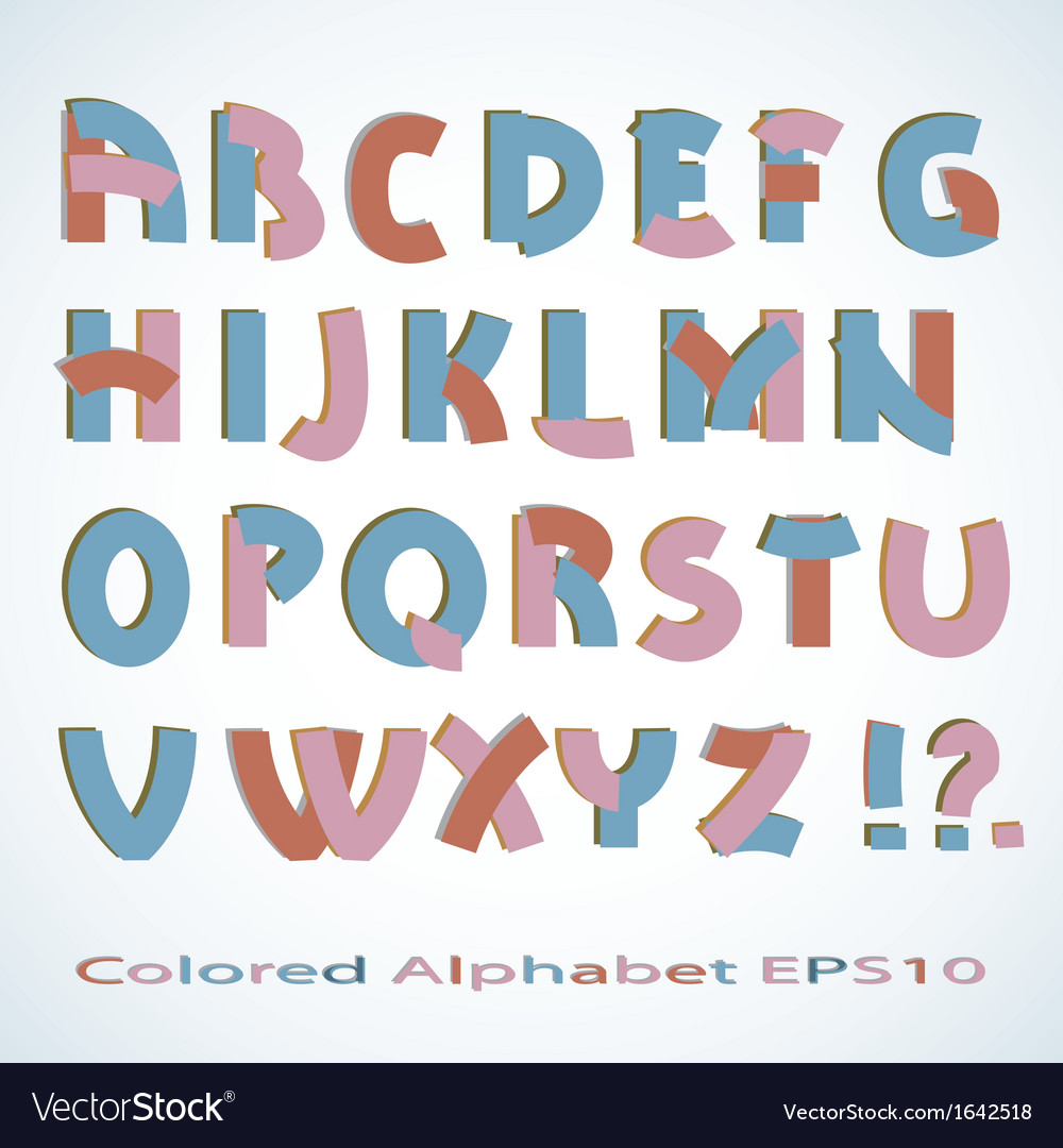 Colored alphabet vector | Price: 1 Credit (USD $1)