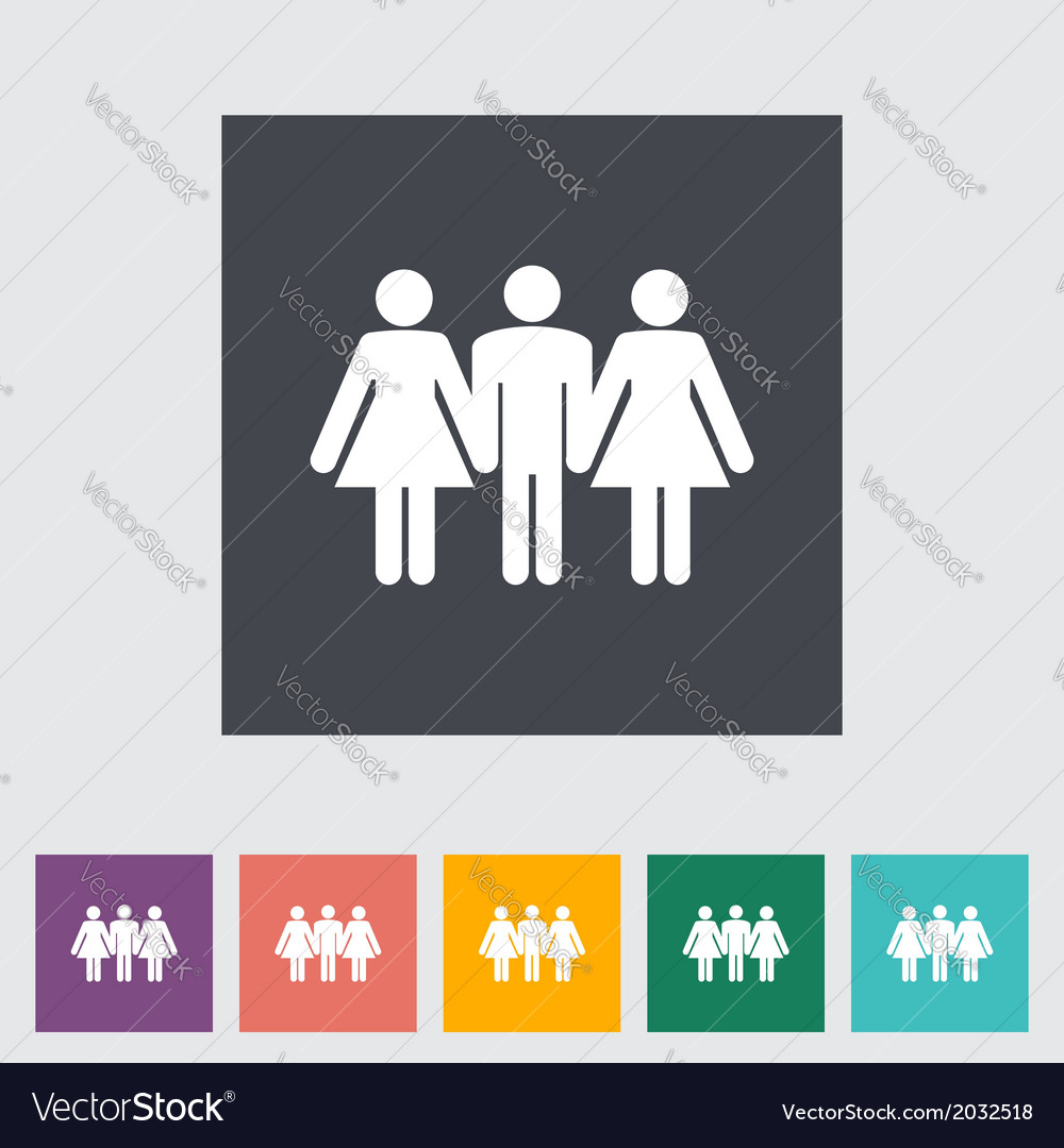 Group sex sign vector   Price: 1 Credit (USD $1)