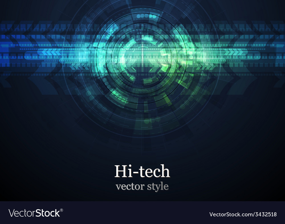 Grunge abstract technology background vector | Price: 1 Credit (USD $1)