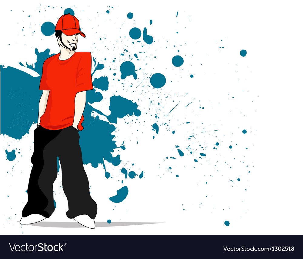 Grunge man vector | Price: 1 Credit (USD $1)