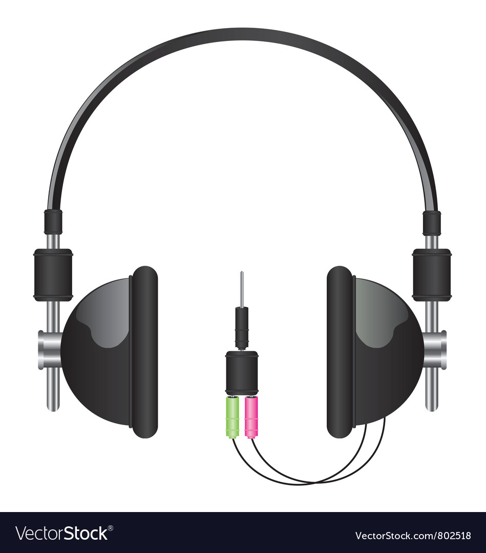 Headphones black vector | Price: 1 Credit (USD $1)