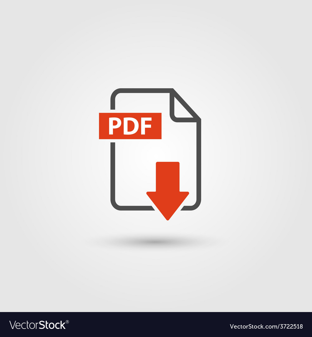 Pdf icon vector | Price: 1 Credit (USD $1)