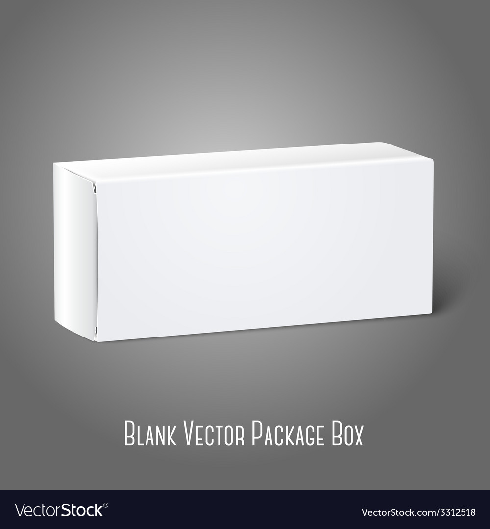 Realistic white blank paper package box isolated vector | Price: 1 Credit (USD $1)