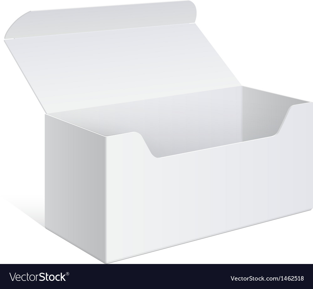 Realistic white package box for software device vector | Price: 1 Credit (USD $1)