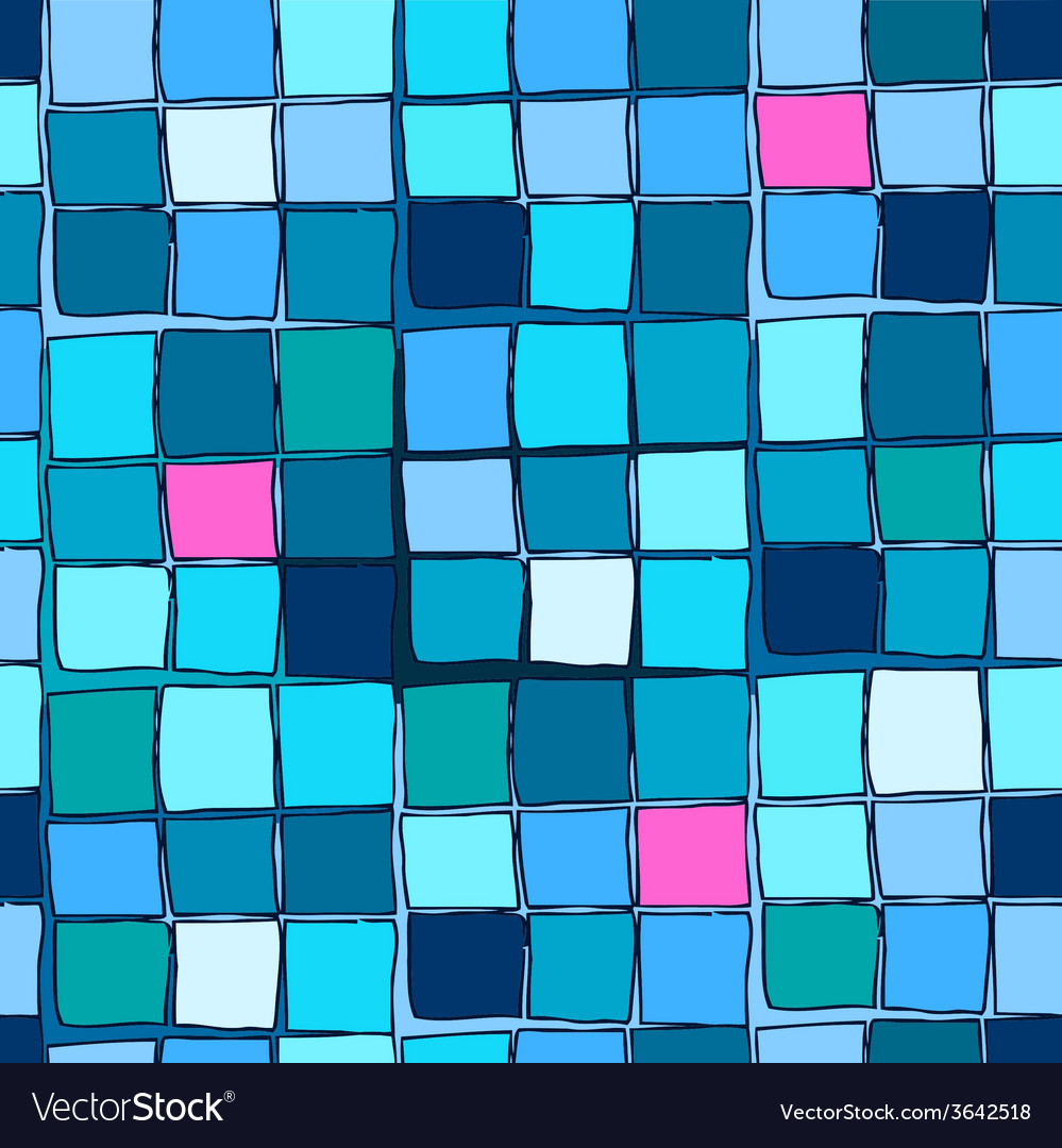 Repeating geometric tiles with squares vector | Price: 1 Credit (USD $1)