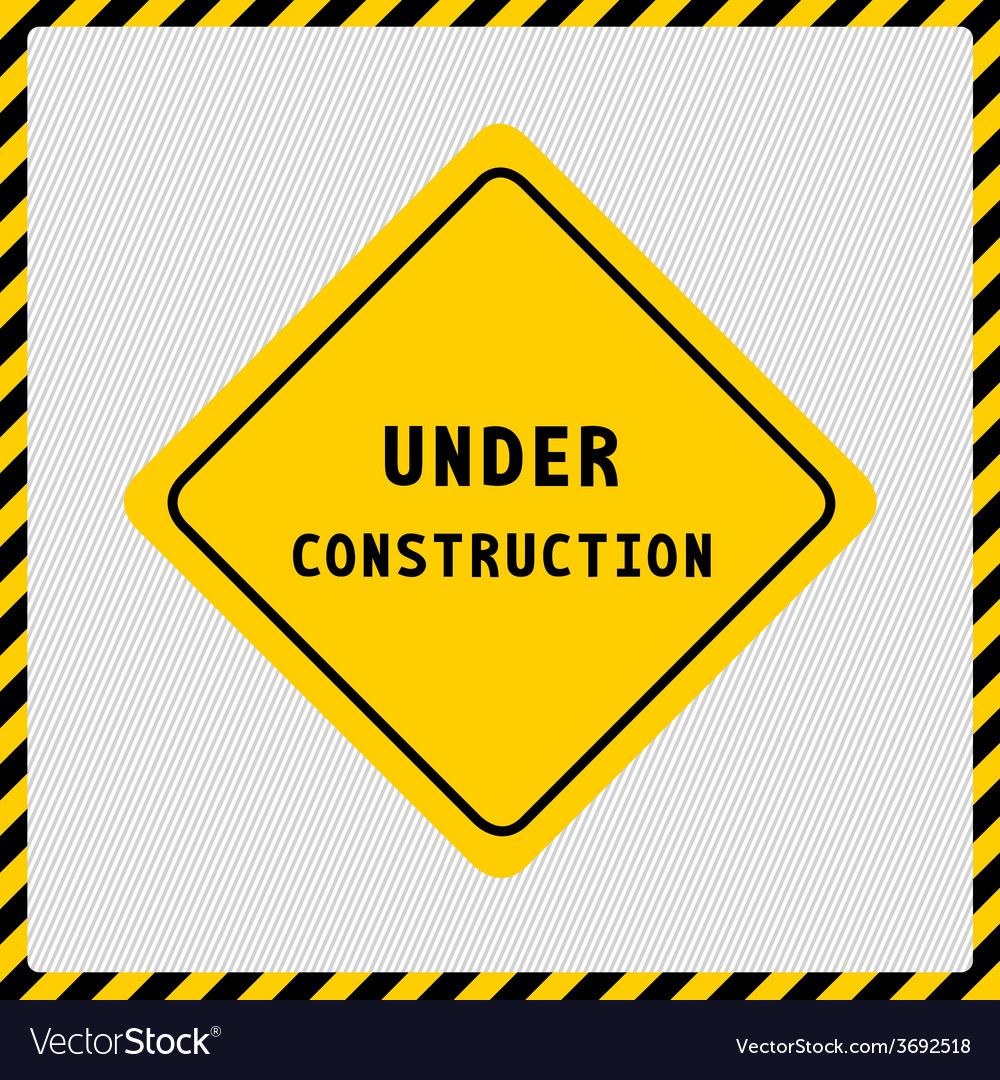 Under construction sign2 vector | Price: 1 Credit (USD $1)