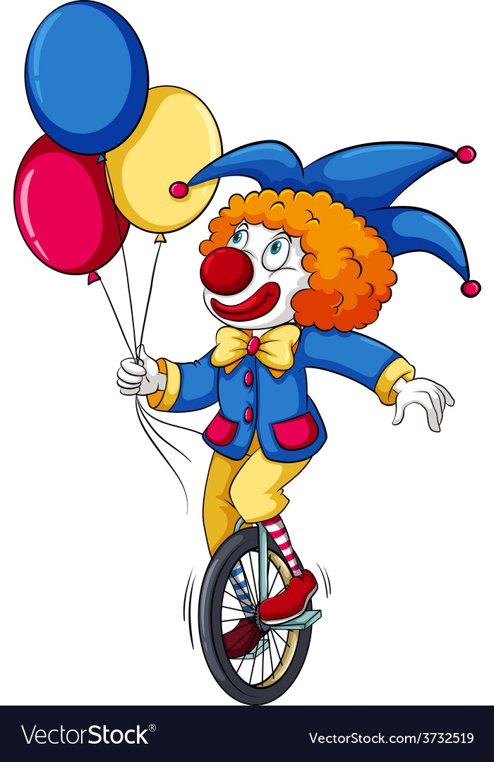 A clown with balloons vector   Price: 1 Credit (USD $1)