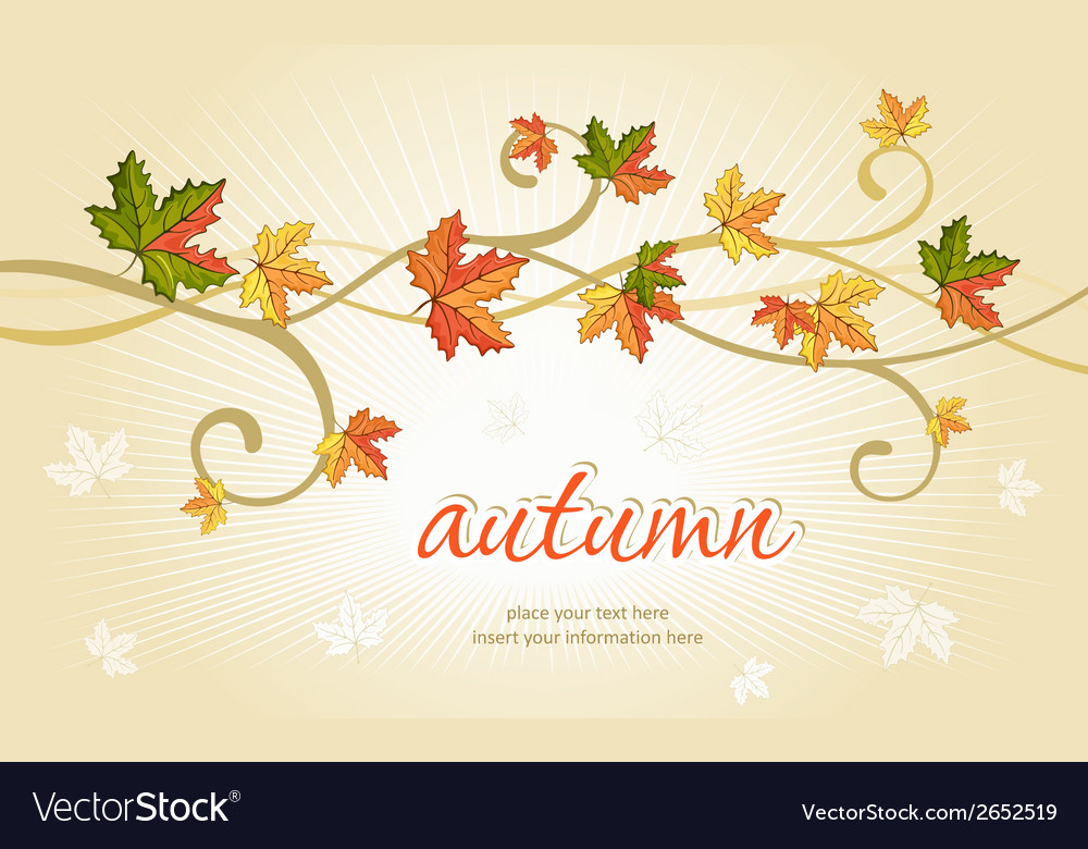 Autumn falling leaves background vector | Price: 1 Credit (USD $1)