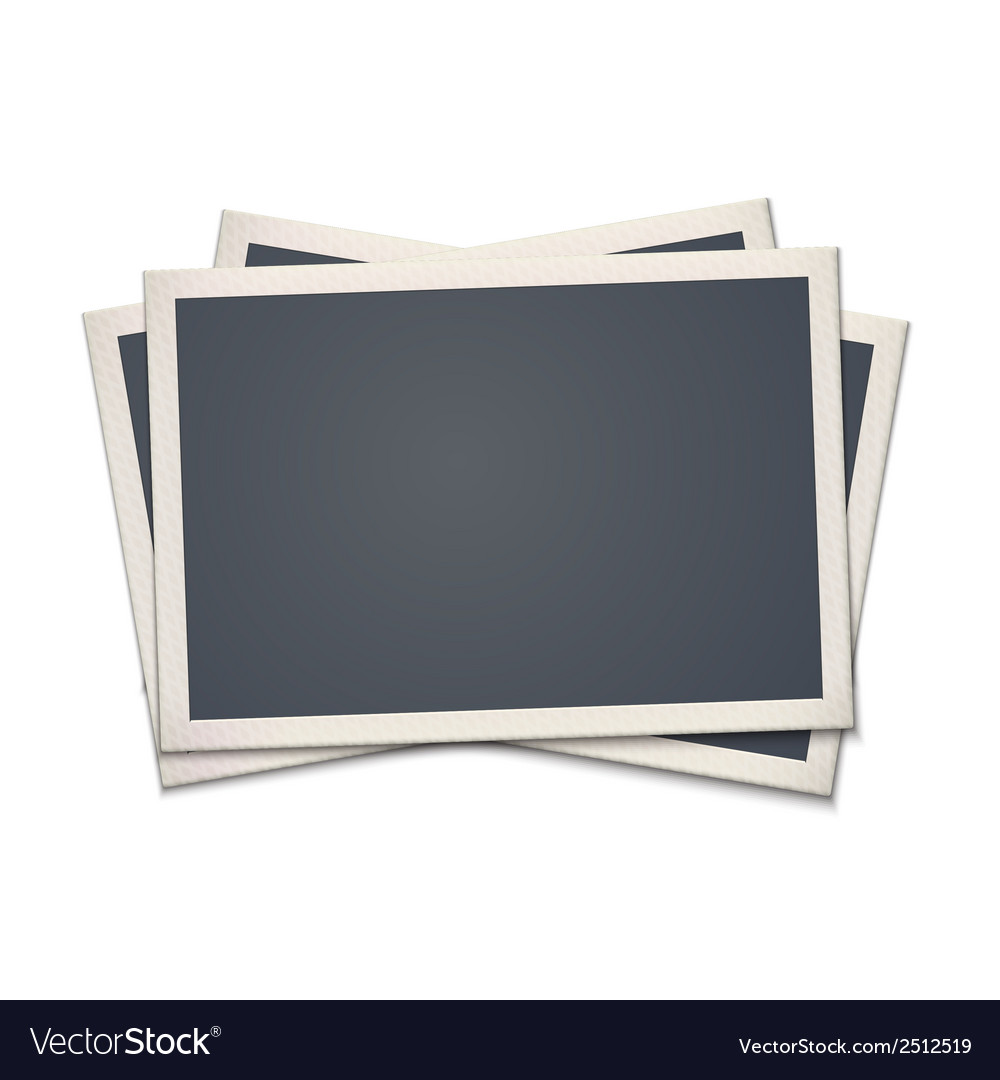 Blank retro photo frame vector | Price: 1 Credit (USD $1)