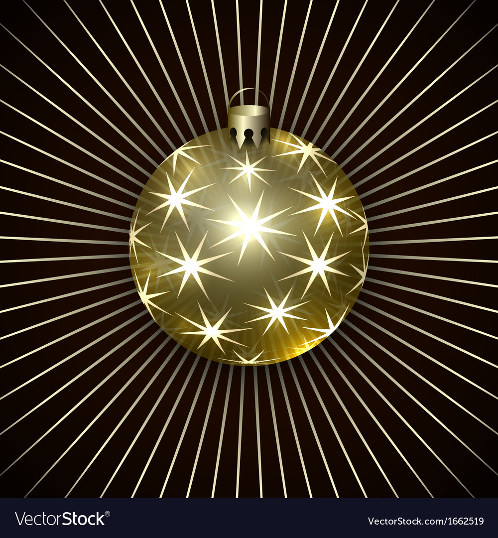 Christmas decoration ball vector | Price: 1 Credit (USD $1)