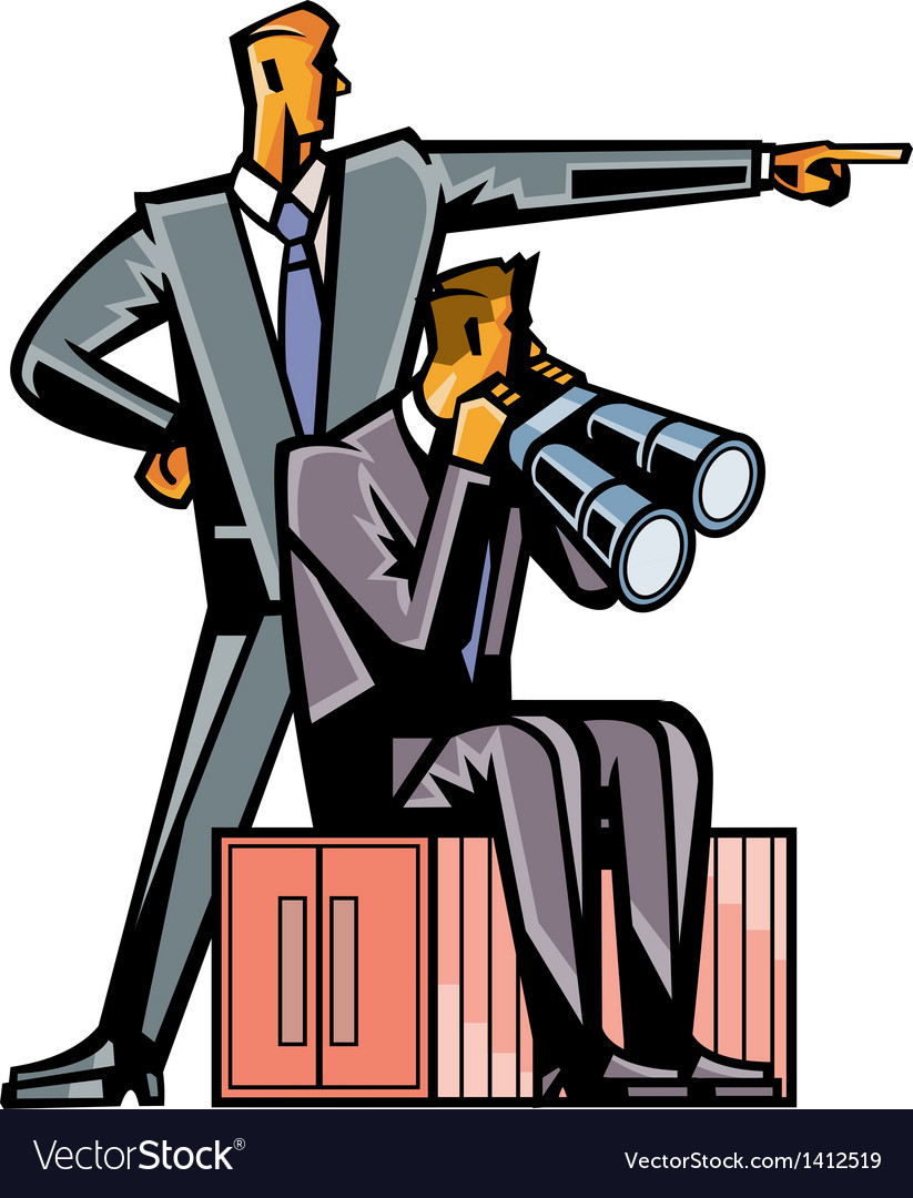 Close-up of businessmen by stool vector | Price: 3 Credit (USD $3)