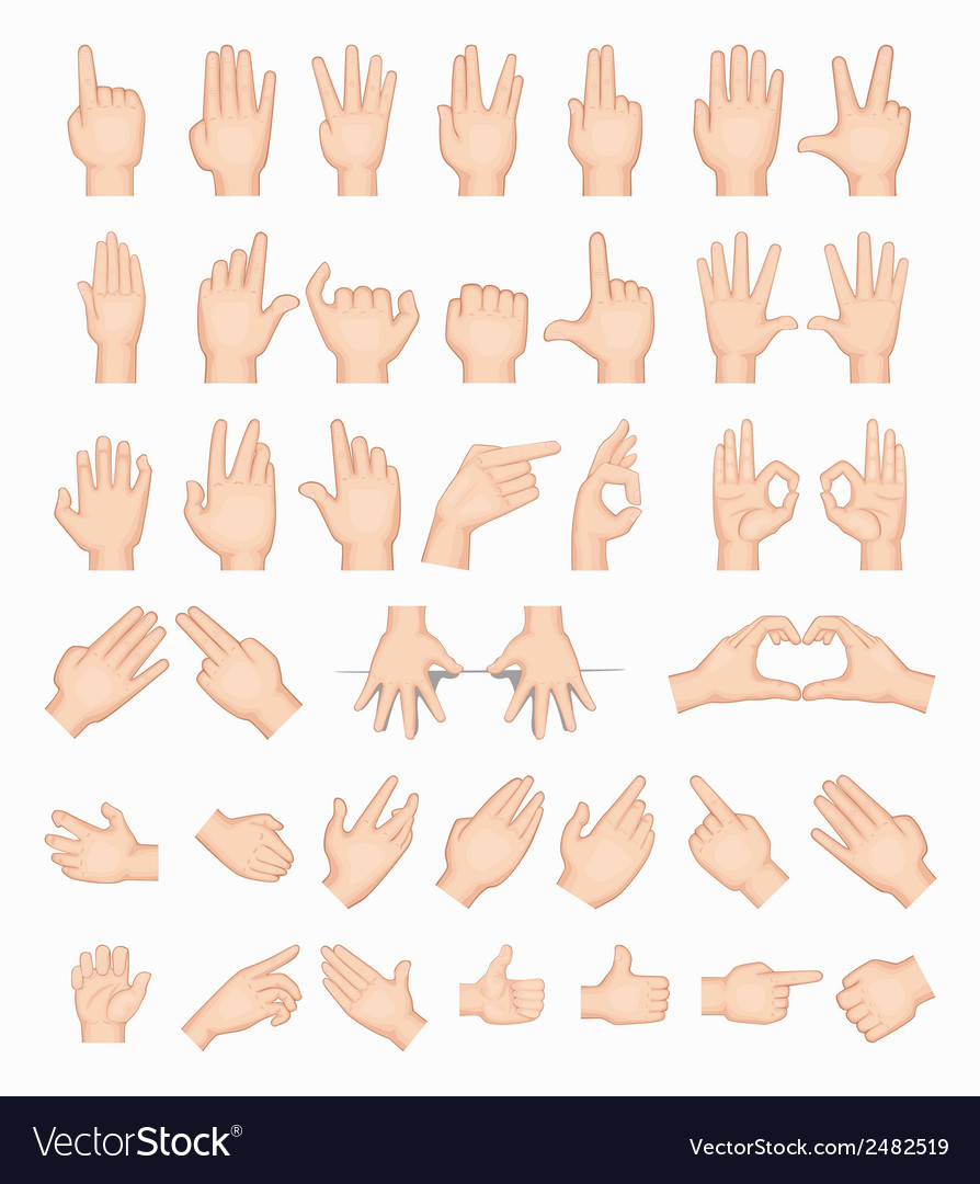 Collage of hands vector | Price: 1 Credit (USD $1)