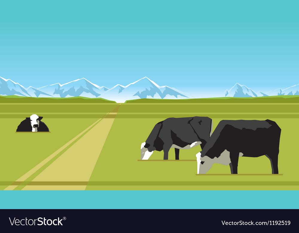 Farm cows vector | Price: 1 Credit (USD $1)