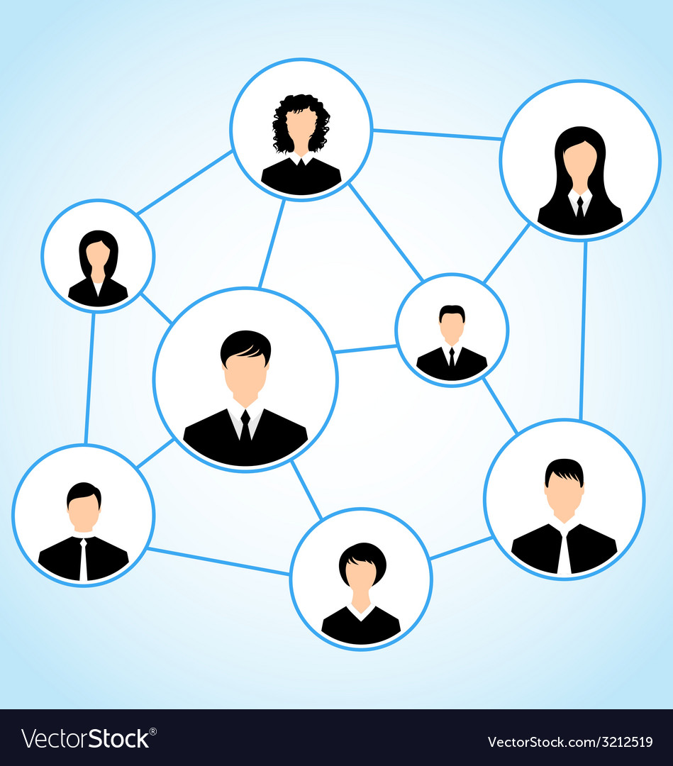 Group of business people social relationship - vector | Price: 1 Credit (USD $1)