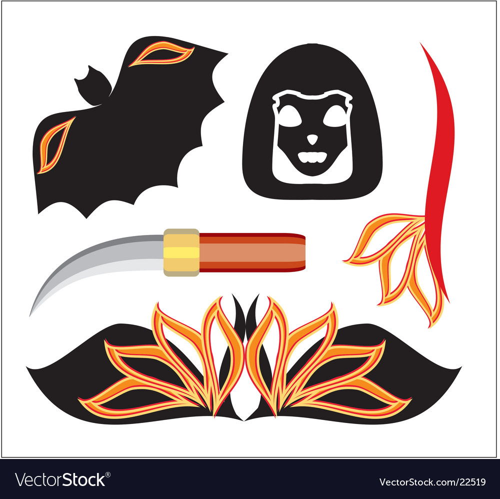 Halloween objects vector | Price: 1 Credit (USD $1)