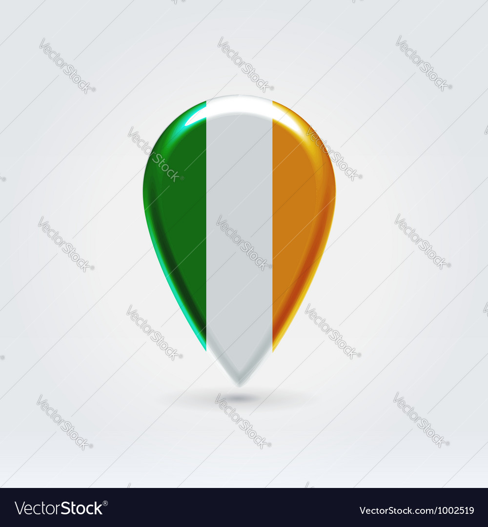 Irish icon point for map vector | Price:  Credit (USD $)