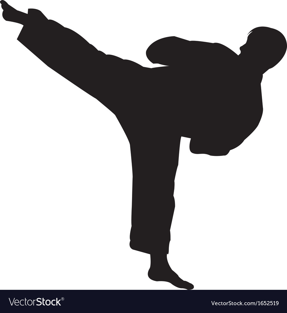 Karate master silhouette vector | Price: 1 Credit (USD $1)