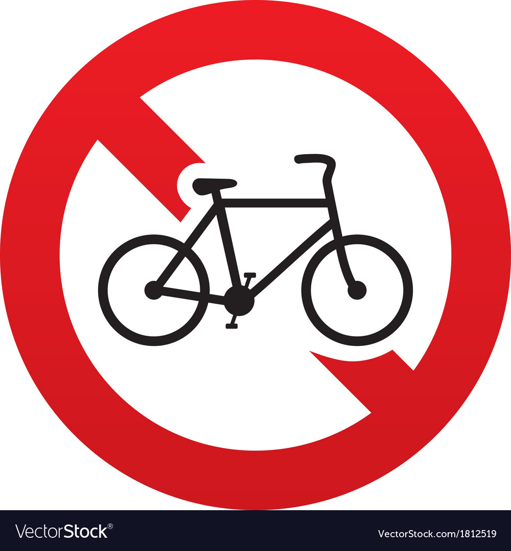 No bicycle sign icon eco delivery family vehicle vector | Price: 1 Credit (USD $1)