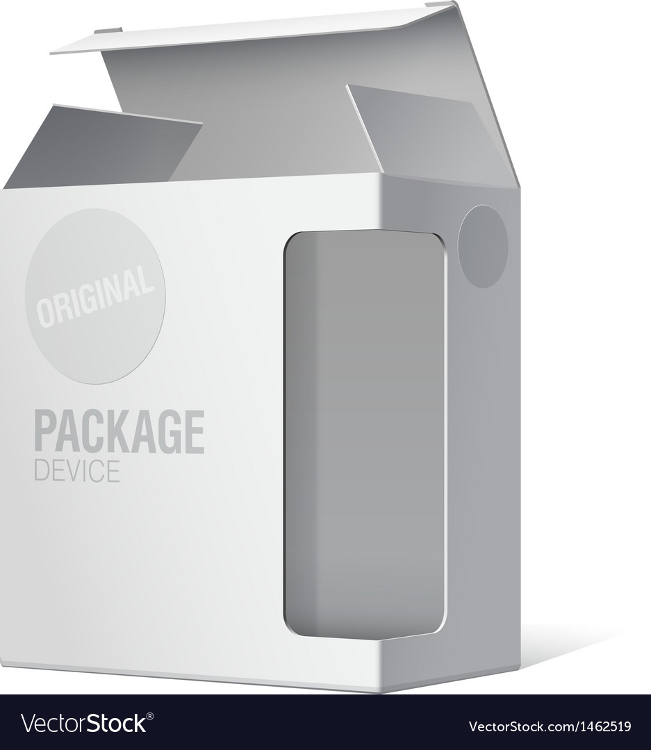 Realistic package box for software device vector | Price: 1 Credit (USD $1)