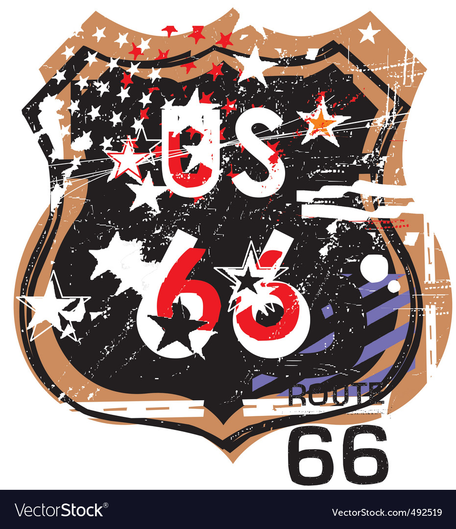 Route 66 design vector | Price: 1 Credit (USD $1)