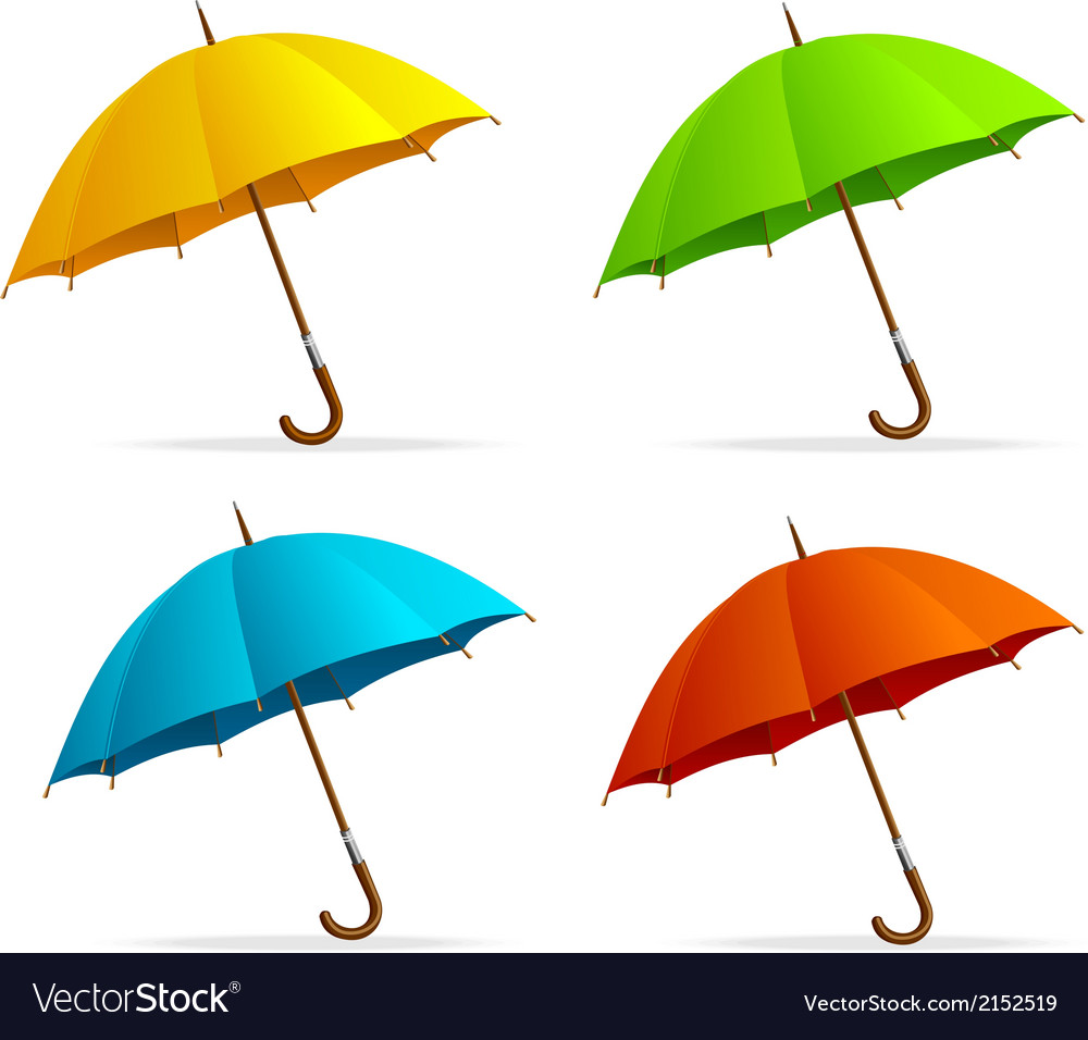 Umbrellas set vector | Price: 1 Credit (USD $1)
