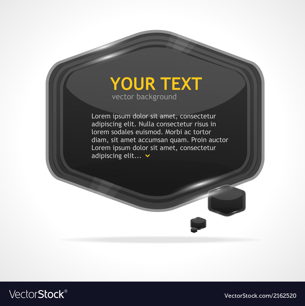 Abstract speech bubble black vector | Price: 1 Credit (USD $1)