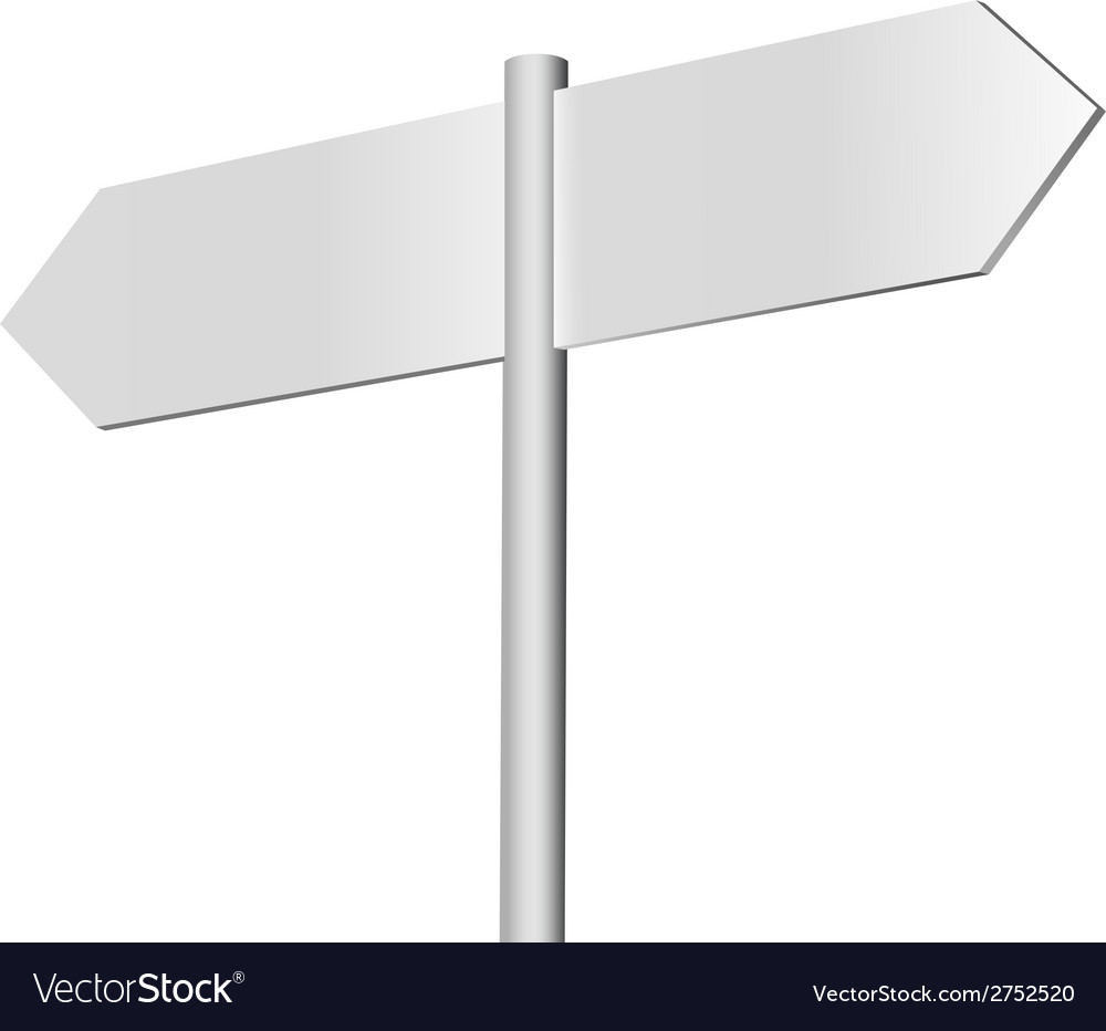 Blank signpost on a black vector | Price: 1 Credit (USD $1)