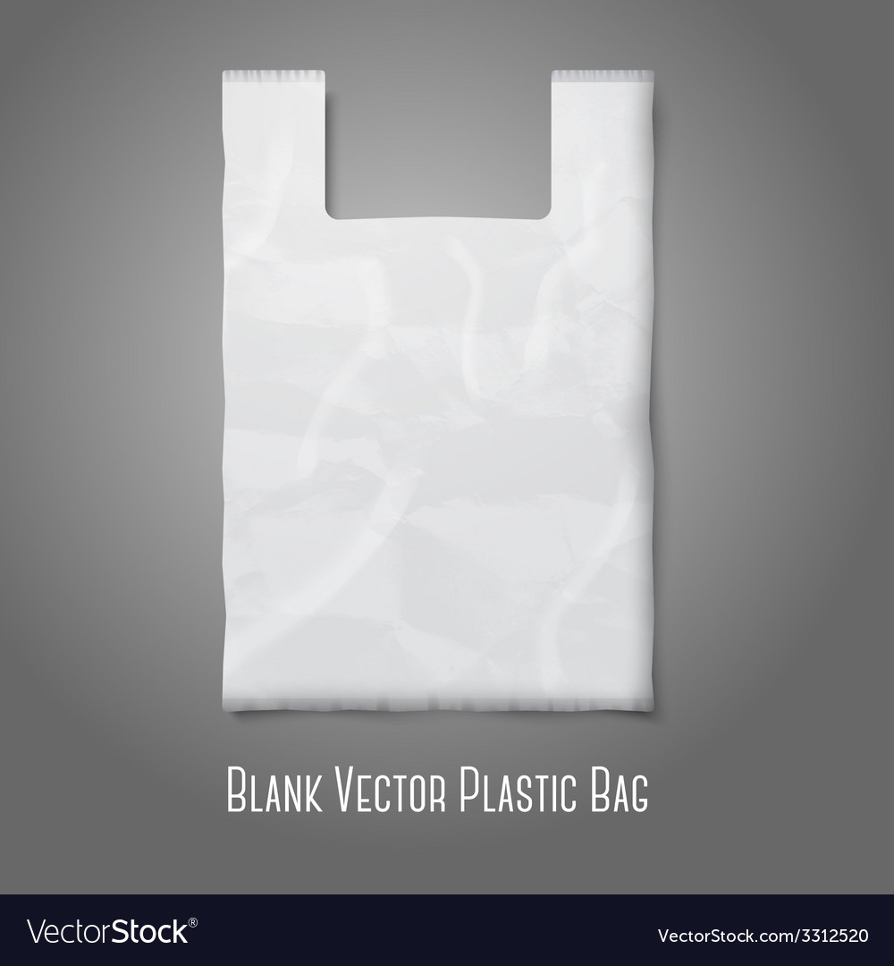 Blank white plastic bag with place for your design vector | Price: 1 Credit (USD $1)