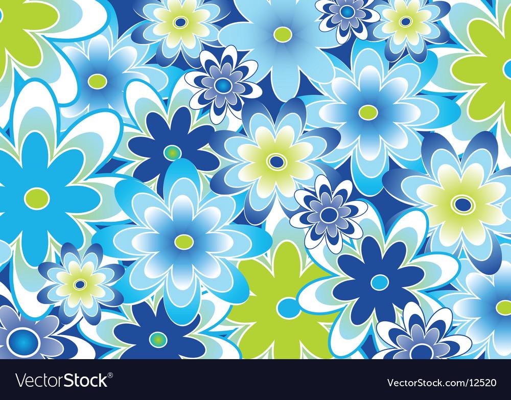 Flower garden vector | Price: 1 Credit (USD $1)