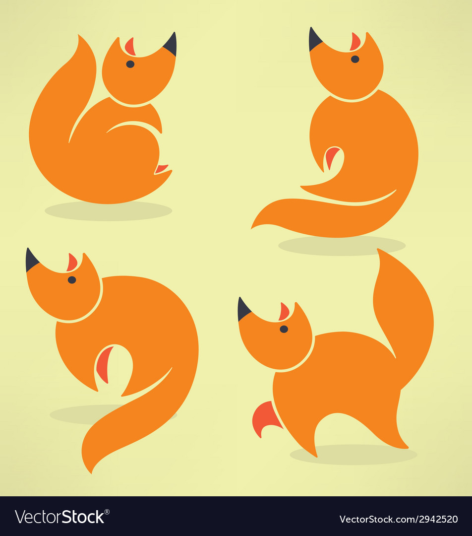 Funny fox vector | Price: 1 Credit (USD $1)