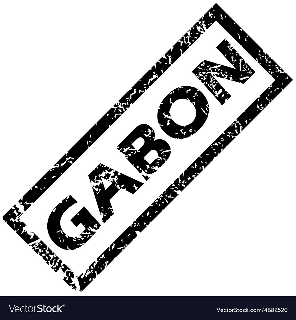 Gabon rubber stamp vector | Price: 1 Credit (USD $1)