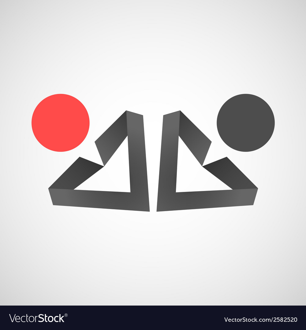 Icons of man creative simple design vector | Price: 1 Credit (USD $1)