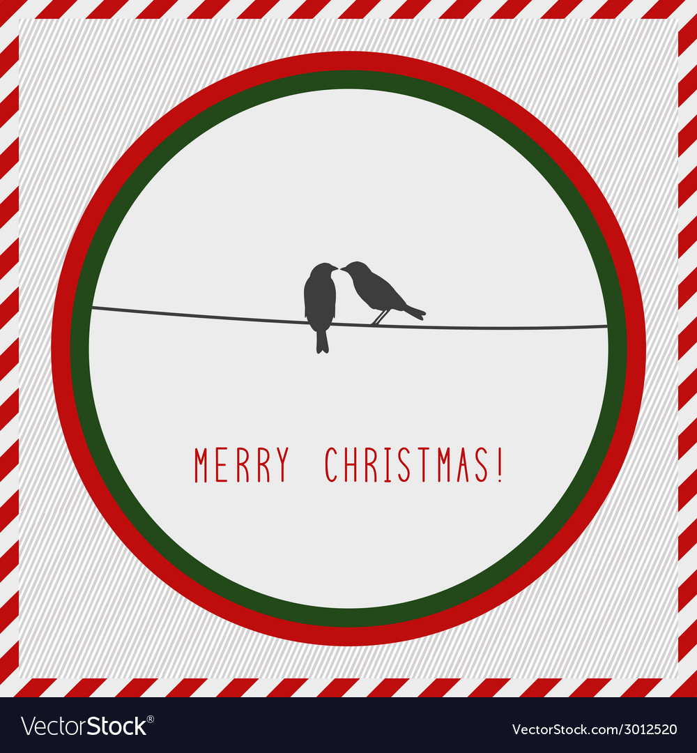 Merry christmas greeting card2 vector | Price: 1 Credit (USD $1)