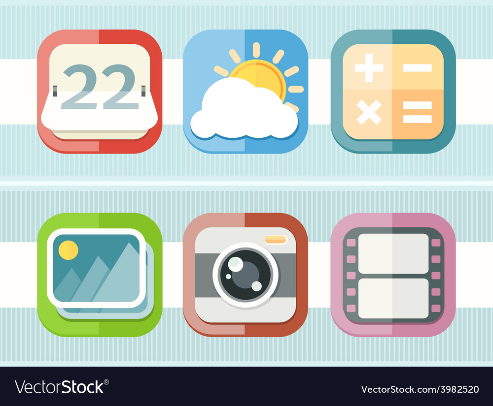 Mobile phone applications black icons set vector | Price: 1 Credit (USD $1)