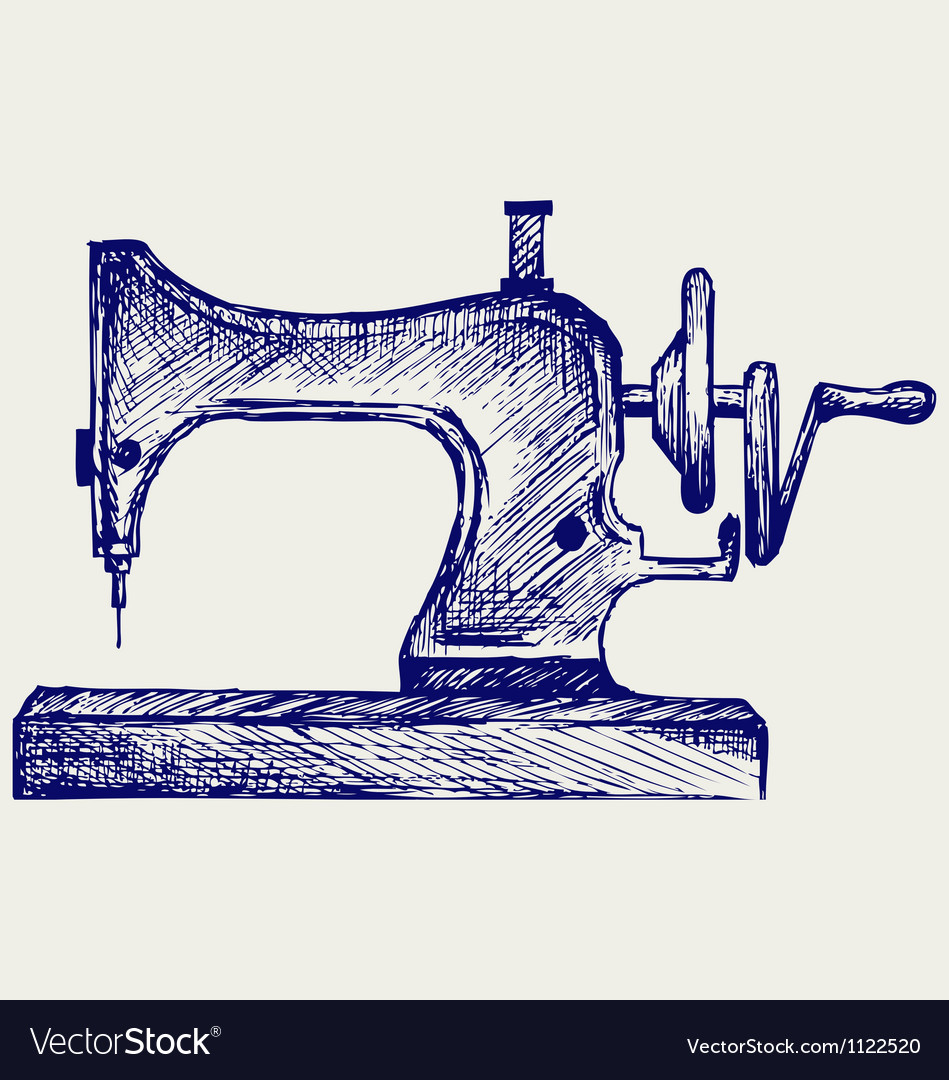 Old sewing machine vector | Price: 1 Credit (USD $1)