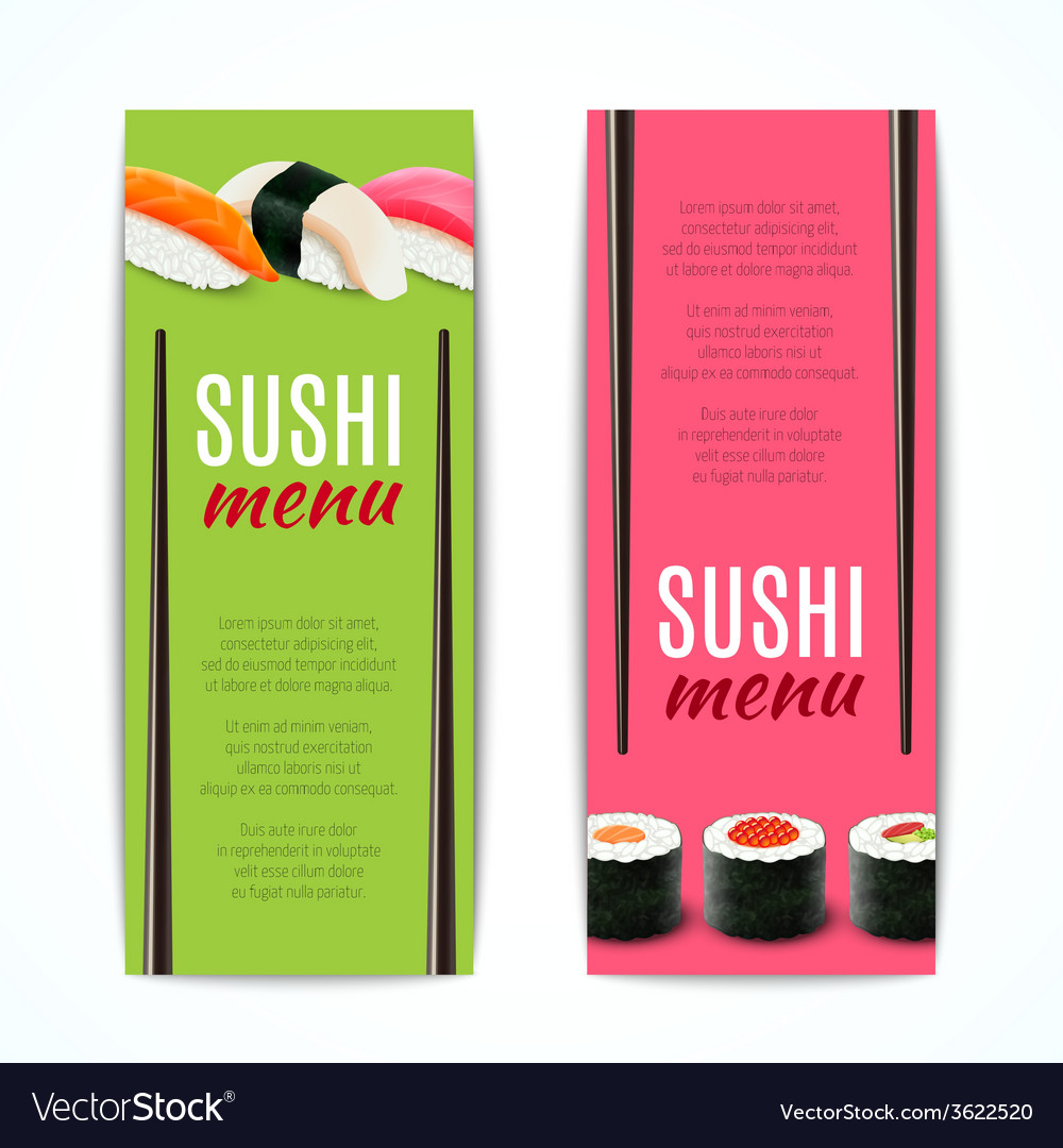 Sushi banners vertical vector | Price: 1 Credit (USD $1)
