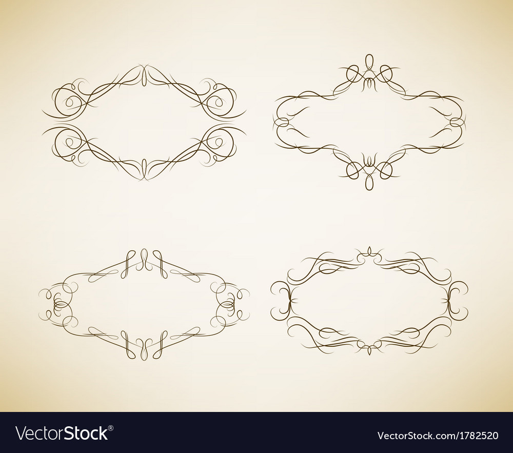 Vintage calligraphic label vector | Price: 1 Credit (USD $1)